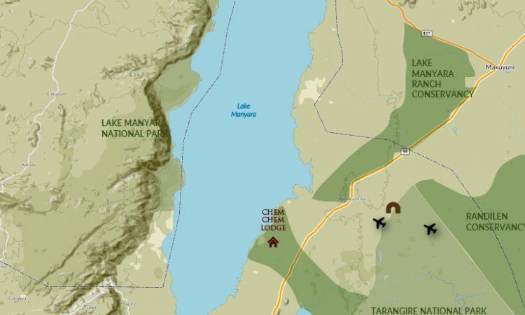 Location of Lake Manyara National Park