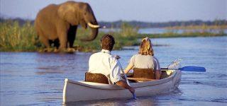 Canoe rides in Lake Manyara national park